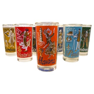 Cities of the World Glasses - Set of 8