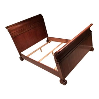 Ralph Lauren Mahogany Sleigh Bed - Queen