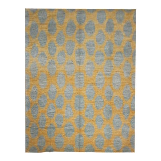 """Hand Knotted Ikat Rug by Aara Rugs Inc. 9'1"""" X 12'1"""""""