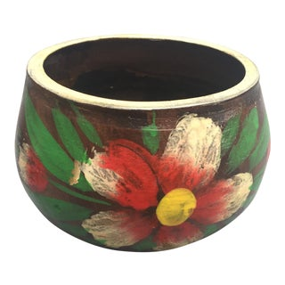 Mexican Hand Painted Flower Pot