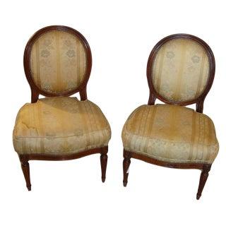Jansen Louis XVI Style Boudoir Chairs- A Pair