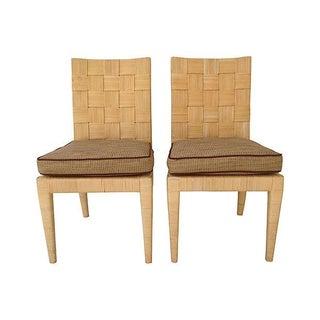 Donghia Block Island Whicker Chairs - Pair