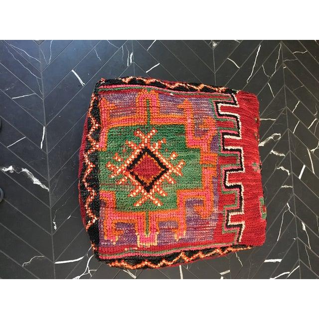 Moroccan Rug Floor Pouf - Image 2 of 5
