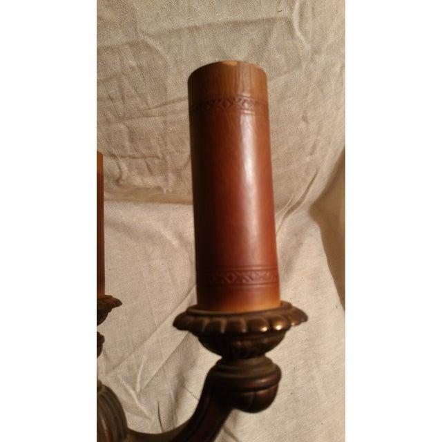 Vintage Art Deco Rembrandt Brass Candelabra Lamp - Image 5 of 6