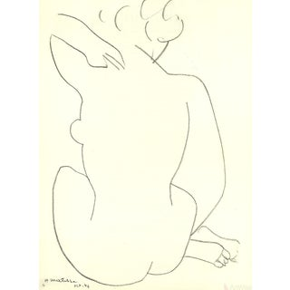 "Henri Matisse ""Nude Drawing of a Woman"" 1951 Lithograph"
