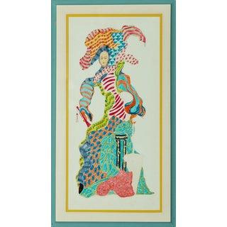 """Colourful Lady"" Illustration"