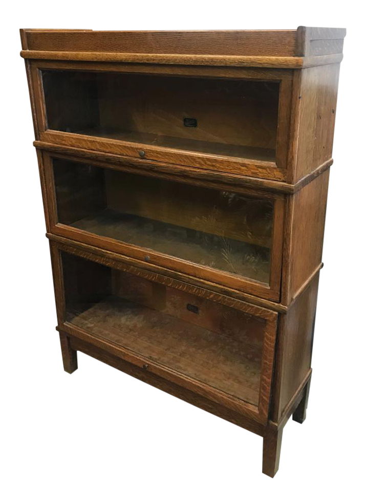 Awesome Antique Hale 3 Stack Mission Oak Arts And Crafts Barrister Lawyers Bookcase