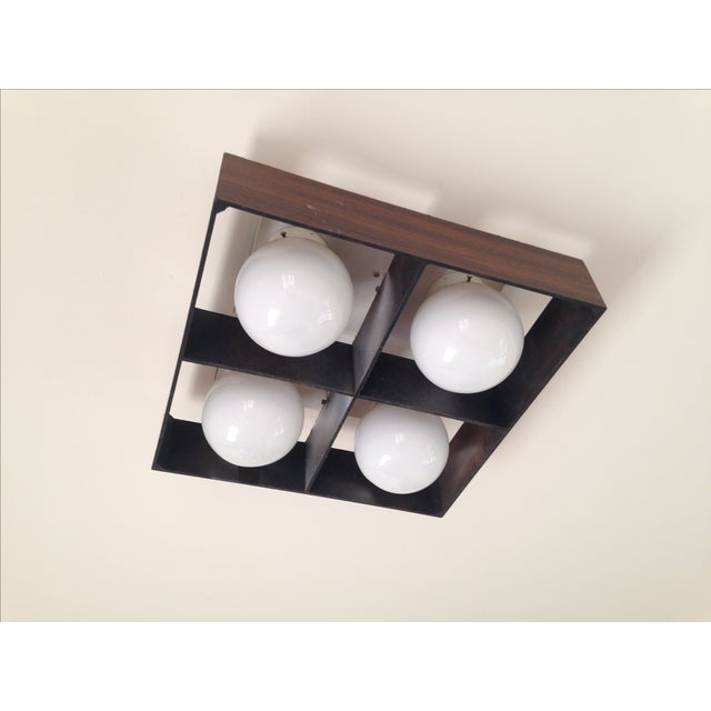 Image of Mid-Century Orb Four-Light Ceiling Fixture