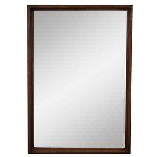 Mid-Century Modern Maple Frame Wall Mirror