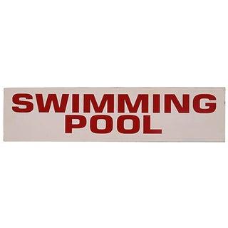 Vintage Swimming Pool Sign