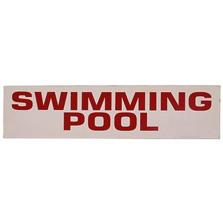 Vintage Swimming Pool Sign