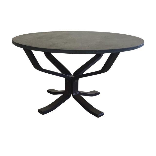 Mid Century Modern Slate Coffee Table - Image 1 of 6