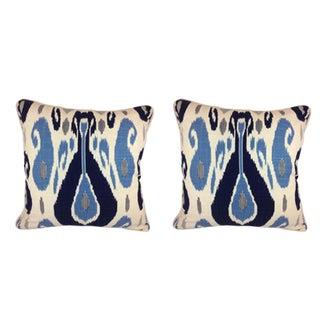Duralee Pillow in John Robshaw Fazil in Blue Pillows - a Pair