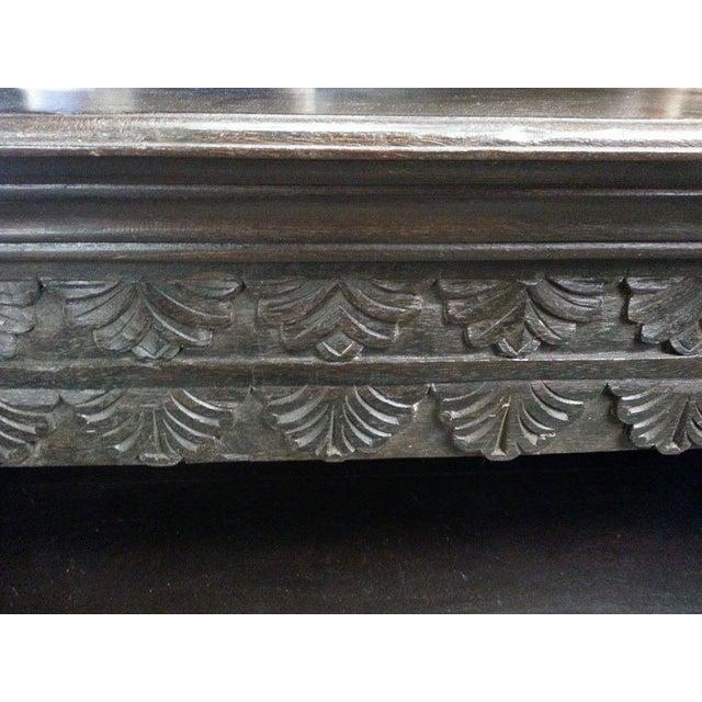 Image of Rustic Wood Carved Bookshelf