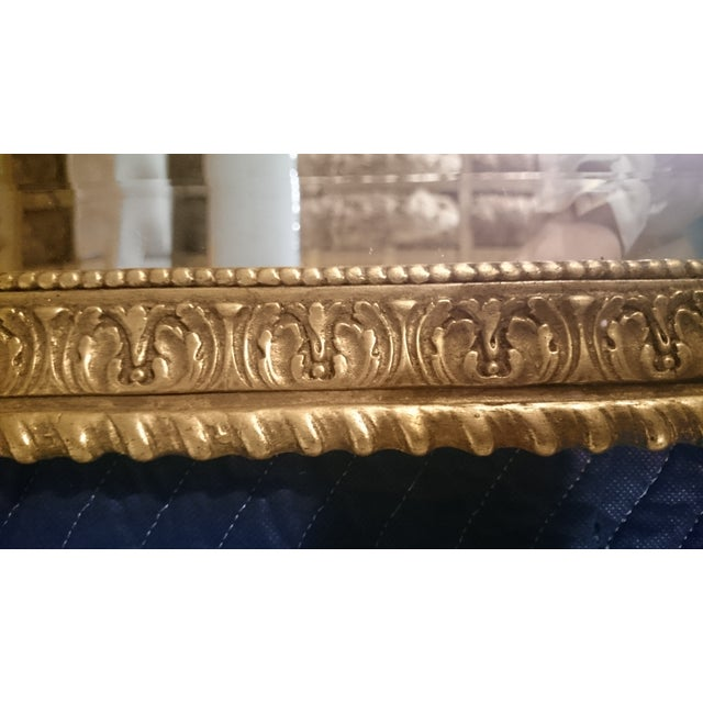 French Neoclassical Style Gold Leaf Finished Wall Mirror - Image 6 of 7