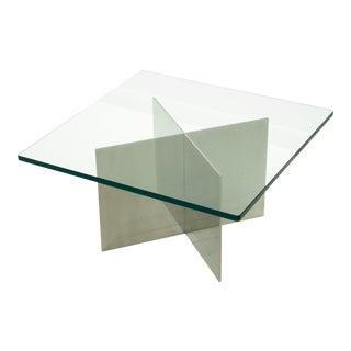 Paul Mayen Polished Aluminum Cocktail Table