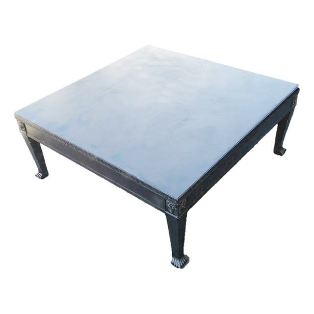 Black Regency Style Low Profile Coffee Table Chairish