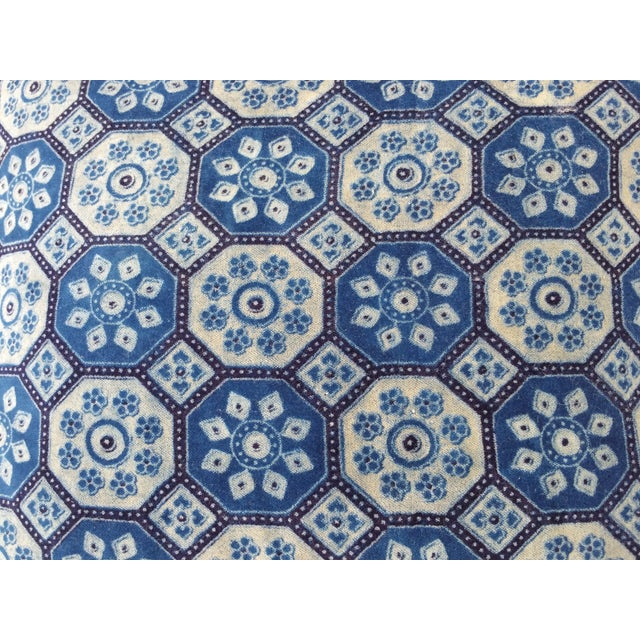 Indigo English Tile Pillows - Image 3 of 5