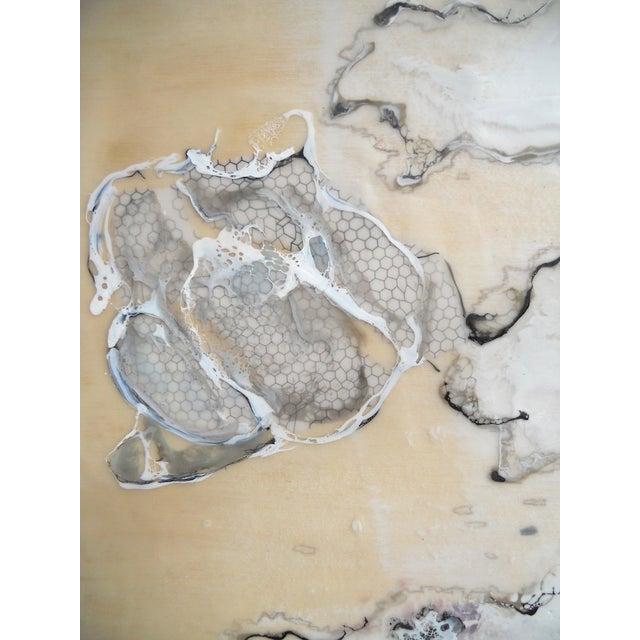 Image of Chrysalis Dawn Modern Encaustic Painting