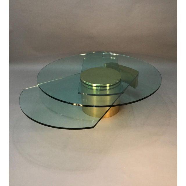 Dakota Jackson Self Winding Brass & Glass Table - Image 8 of 9