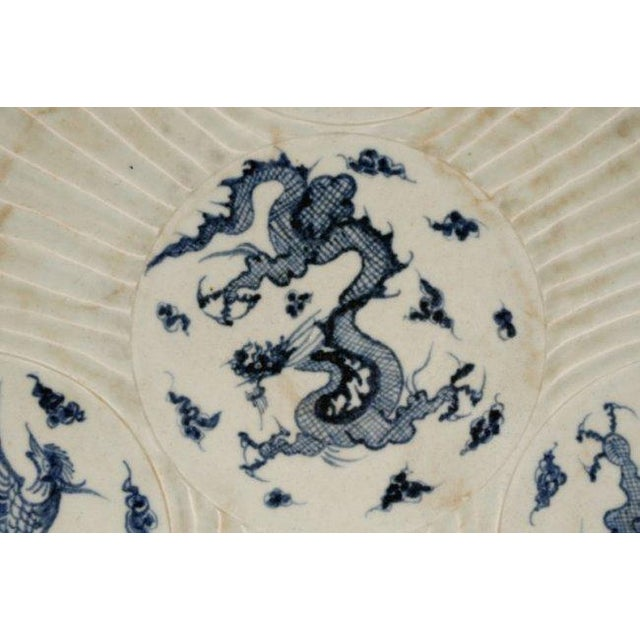 Image of Chinese Blue & White Porcelain Chargers - A Pair