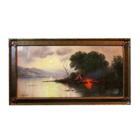 William Henry Chandler Framed Pastel Landscape - Image 1 of 4
