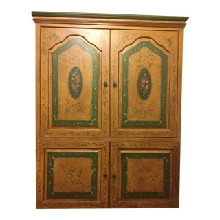 Hand Crafted & Painted Media Armoire