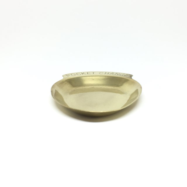 "Image of Vintage Mid Century ""Pocket Change"" Brass Tray"