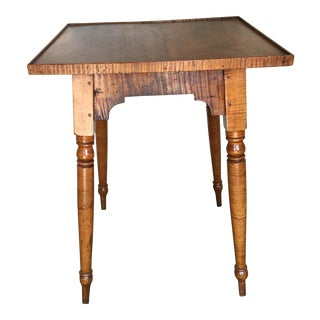 19Th Century Side Table Curly Maple