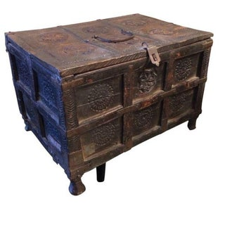 19thc Indian Wood and Metal Box