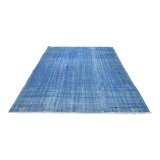 Antique Turkish Oushak Blur Rug - 6′11″ × 9′6″