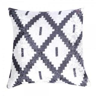 Grey Diamond Print Pillow