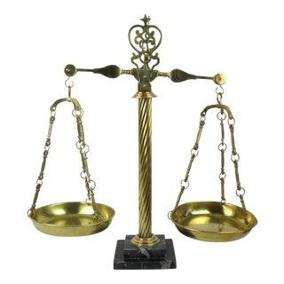 Italian Brass & Marble Scales