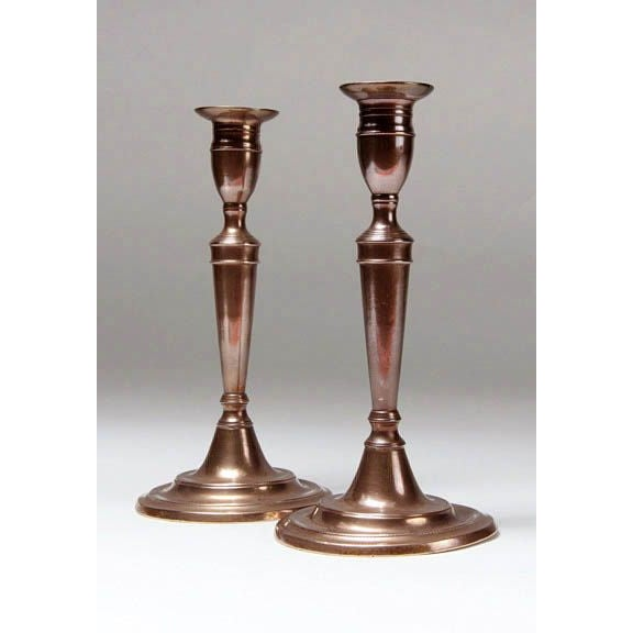 18th Century English Bell Metal Candlesticks - Image 5 of 5