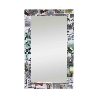 Photo Collage Flat Frame Mirror