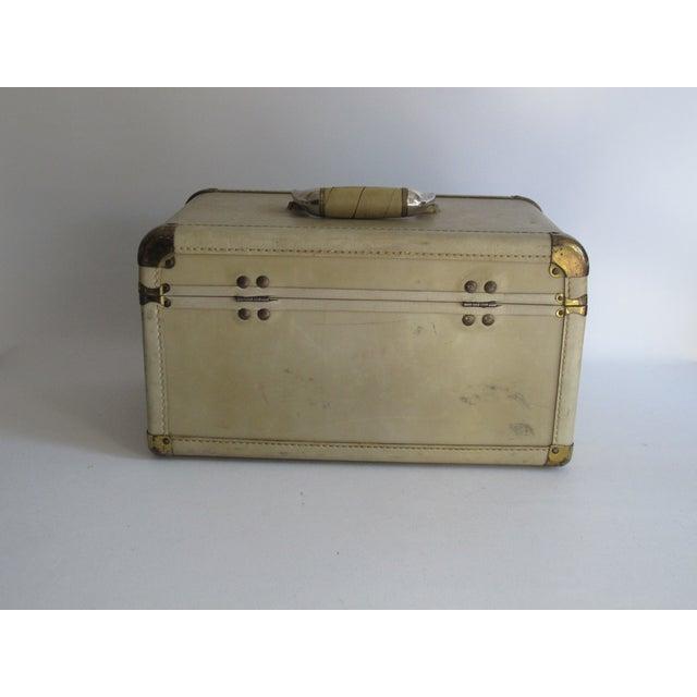 Cream Leather Train Case - Image 4 of 6