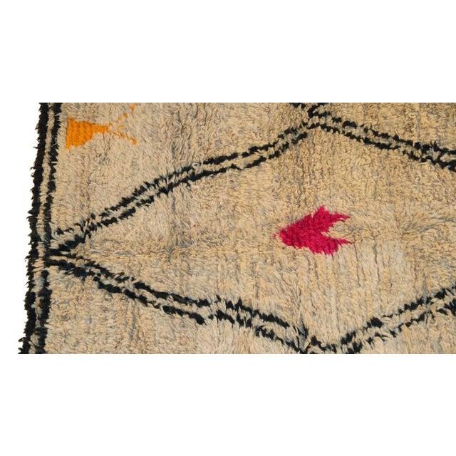 "Moroccan Vintage Beni Ourain Rug - 5'10"" X 8'5"" - Image 2 of 4"