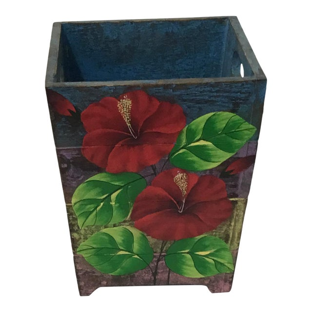Image of Wooden Waste Bin from Bali