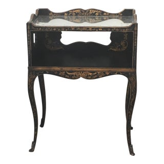 John Richard Black & Gold Side Table