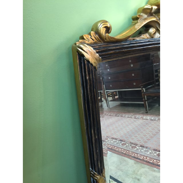 Black & Gold Hollywood Regency Style Mirror - Image 5 of 5