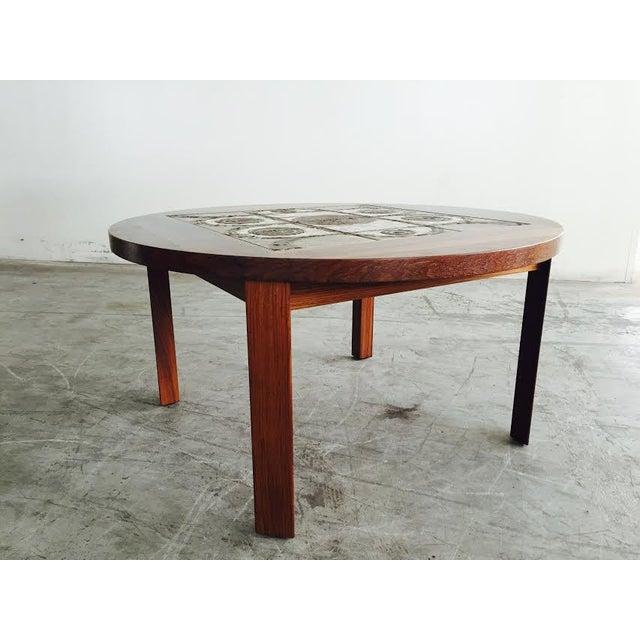 Vintage Danish Rosewood & Tile Top Coffee Table - Image 8 of 9