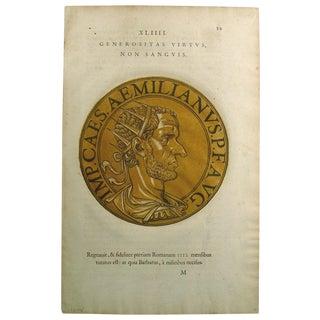 Roman Emperor Block Print 1645