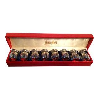 Neiman Marcus Miniature Pewter Salt & Pepper Shakers Set