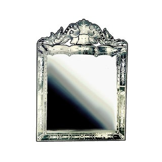 Venetian Style Etched Beveled Wall Mirror