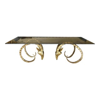 Brass Ram Base Coffee Table