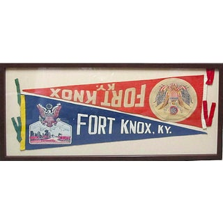 Framed 1940s Fort Knox Banners