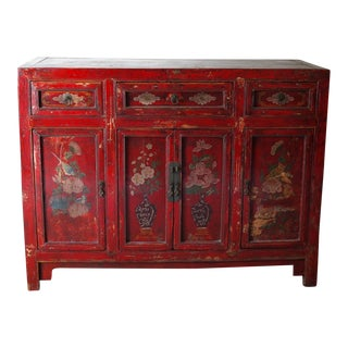 Rustic Antique Oriental Storage Cabinet