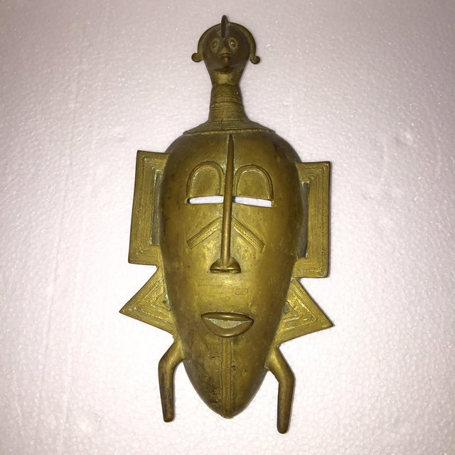 African Brass Mask - Image 5 of 6