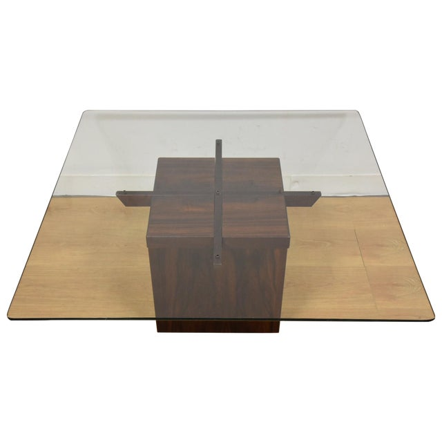 Mid-Century Rosewood & Glass Danish Coffee Table - Image 1 of 10