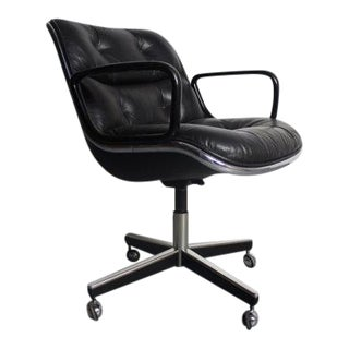 Knoll Black Vinyl Office Chair